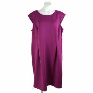Calvin Klein Sheath Dress Sleeveless Fuchsia Solid